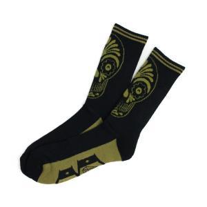 REBEL8  ロングソックス  Muertos Socks   ブラック×アーミー    (REBEL EIGHT)  (雑貨)(靴下)|e-issue