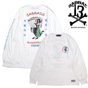 SABBAT13  ロンTEE YOKAI TRUMP WHITE サバト サーティーン 白(長袖 Tシャツ)|e-issue