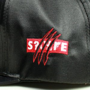 SQUARE  CAP  SATIN SNAP BACK  BLACK(黒)   (スクエア)(キャップ)|e-issue|03