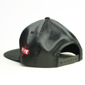 SQUARE  CAP  SATIN SNAP BACK  BLACK(黒)   (スクエア)(キャップ)|e-issue|04