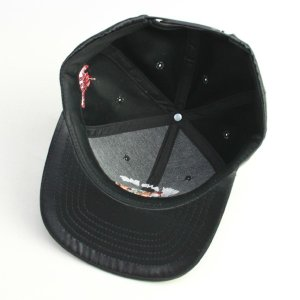 SQUARE  CAP  SATIN SNAP BACK  BLACK(黒)   (スクエア)(キャップ)|e-issue|05