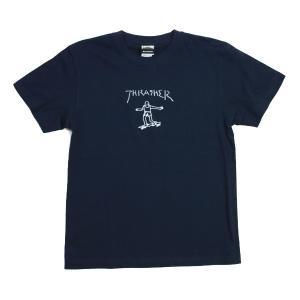 THRASHER Tシャツ  GONZ  ネイビー   (スラッシャー)|e-issue