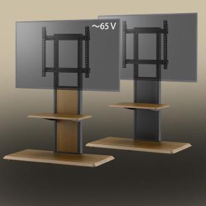 棚板付き コーナーテレビ台 32-65V型 テレビスタンド 壁よせ 壁掛けテレビ台 おしゃれ ロータ...
