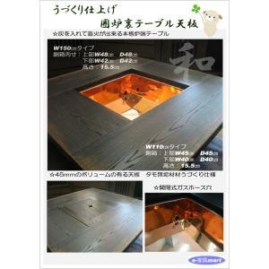 囲炉裏テーブル W110cm ハイタイプ いろり 送料無料 開梱設置 |e-kagumarty|03