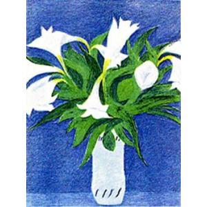ピエール・ボンコンパン リトグラフ「ブルーの壁とゆり」|e-kakejiku