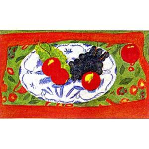 ピエール・ボンコンパン リトグラフ「黒いぶどうとインドのテーブルクロス」|e-kakejiku