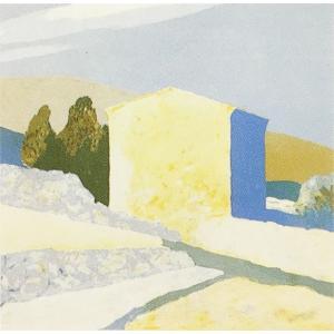 ロジェ・ミュール「黄土色の家」リトグラフ 巨匠の絵画|e-kakejiku