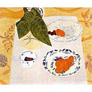ピエール・ボンコンパン リトグラフ「テーブルの上の観葉植物」|e-kakejiku