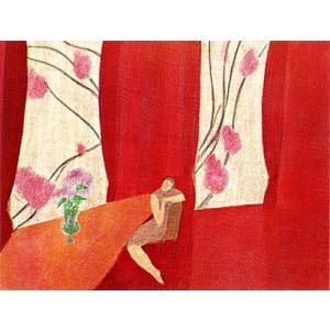 ピエール・ボンコンパン リトグラフ「赤いカーテン」|e-kakejiku