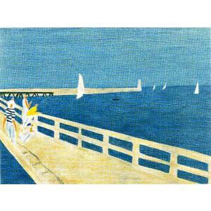 ピエール・ボンコンパン リトグラフ「海辺」|e-kakejiku