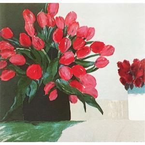 ロジェ・ミュール「チューリップのブーケ」リトグラフ 巨匠の絵画|e-kakejiku
