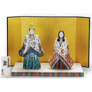 「6.5号雛人形」 桃(台・屏風・立札付き) おひなさま掛軸|e-kakejiku