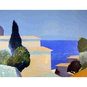 ロジェ・ミュール「海辺の家」リトグラフ 巨匠の絵画|e-kakejiku
