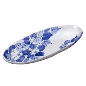 九谷焼 「藍椿」12号盛皿 空虚蔵窯