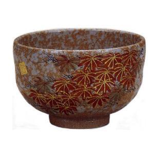 九谷焼 「紅葉」抹茶碗|e-kakejiku