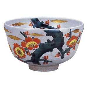 九谷焼 「紅梅図」抹茶碗|e-kakejiku