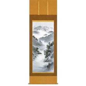 掛け軸「水墨山水」太田玉泉作 高級掛軸 モダン|e-kakejiku