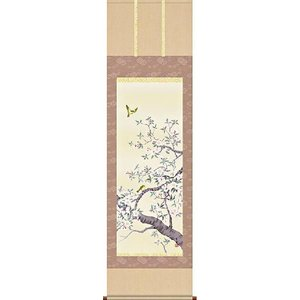 掛け軸 桜花 北山歩生作 掛軸 モダン インテリア|e-kakejiku