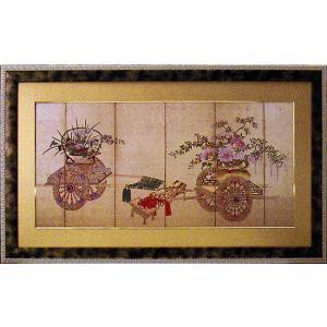 絵画 「花車」和風フレーム|e-kakejiku