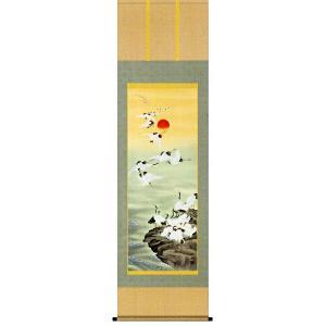 掛け軸 群鶴 長江桂舟作 お祝いの慶祝画 掛け軸|e-kakejiku