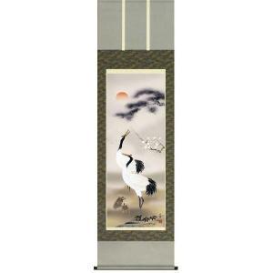 掛け軸 松竹梅鶴亀 小林秀峰作 (お正月・結納・お祝い用の掛軸)|e-kakejiku