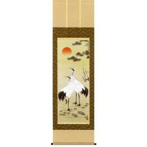 掛け軸 松竹梅鶴亀 小野洋舟作 花鳥の掛軸 掛け軸|e-kakejiku