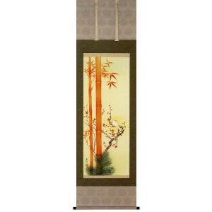 掛け軸 「瑞鳥三友 」 大西寿海作(お祝い・掛軸)|e-kakejiku