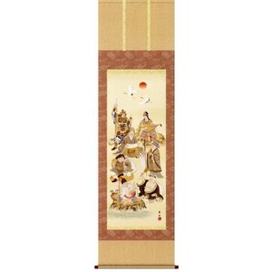 掛け軸 七福神 緒方葉水作 花鳥の掛軸 受注制作品|e-kakejiku