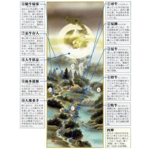 掛け軸 開運四神十牛図 麻生有山作 (モダン インテリア 掛軸)|e-kakejiku|02