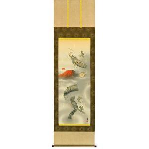 掛け軸 十二神将昇龍図(尺三立・化粧箱) 石田芳園作 (モダン インテリア 掛軸) 受注制作品|e-kakejiku