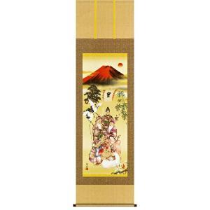 掛け軸 吉祥七福降臨図(尺五立・化粧箱) 長江桂舟作 (モダン インテリア 掛軸)|e-kakejiku