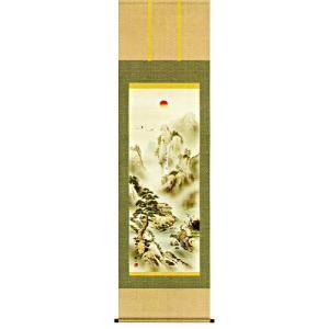 掛け軸 蓬莱四神吉相図(尺五立・桐箱) 狭山観水作 (モダン インテリア 掛軸)|e-kakejiku