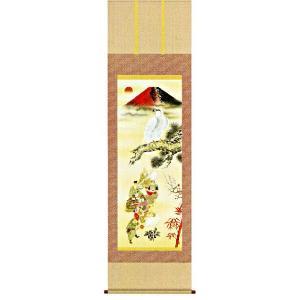 掛け軸 吉祥初夢福徳図(尺三立・桐箱) 長江桂舟作 (モダン インテリア 掛軸)|e-kakejiku