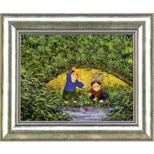 絵画 「川辺の二人」開田風童(ジクレー版画)|e-kakejiku