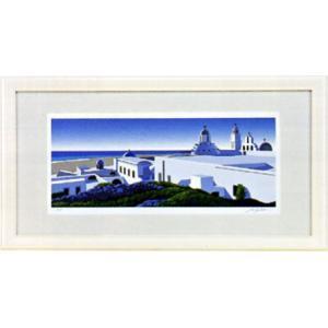 「海の見える白い建物」星野光輝 ジークレー版画 e-kakejiku