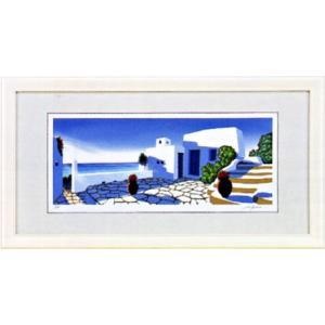 「エーゲ海の光」星野光輝 ジークレー版画 e-kakejiku