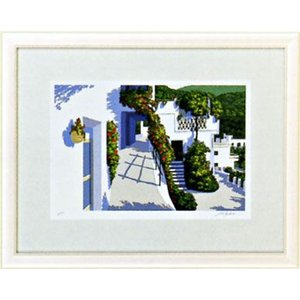 「アンダルシアの坂道」星野光輝 ジークレー版画 e-kakejiku