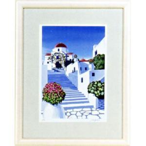 「白い壁のミコノス」星野光輝 ジークレー版画 e-kakejiku