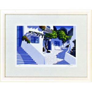 「石畳の路地」星野光輝 ジークレー版画 e-kakejiku