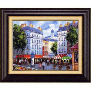 絵画 F6号 パリの街角 P.ディクソン作 油絵|e-kakejiku