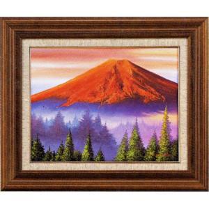 絵画 F6号 赤富士 L.フランクリン作 油絵|e-kakejiku