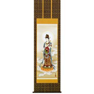 掛け軸 雲上観音 高畠周峰作 仏事の掛軸・掛け軸(掛け軸)|e-kakejiku