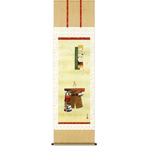 掛け軸 立雛 長江桂舟作 おひなさま掛軸 受注制作品|e-kakejiku