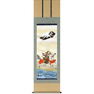 掛け軸 吉祥武者 宇崎洋山作 端午の節句・掛軸・名入れ可能 受注制作品|e-kakejiku