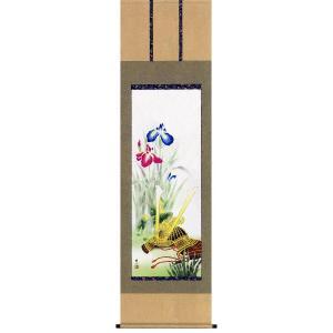 掛け軸 兜と菖蒲 唐沢碧山作 端午の節句・掛軸・名入れ可能 受注制作品|e-kakejiku