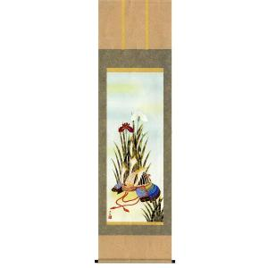 掛け軸 兜と菖蒲 井川洋光作 端午の節句・掛軸・名入れ可能 受注制作品|e-kakejiku