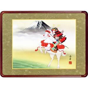 額装 「武者と富士」野川秀華作 (端午の節句)|e-kakejiku