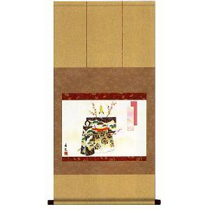 掛け軸 立雛 西尾香悦作(掛軸)【ひな祭り】【送料無料】|e-kakejiku