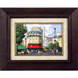 絵画 SM「パリの街角」阪本 宏 作(油絵)|e-kakejiku