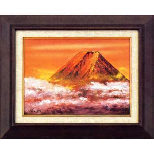 絵画 F4号「赤富士」伊吹浩一作(油絵)|e-kakejiku